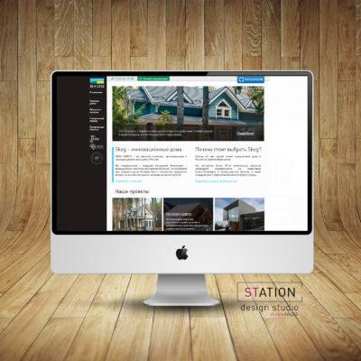 Разработка сайта компании по загородному строительству