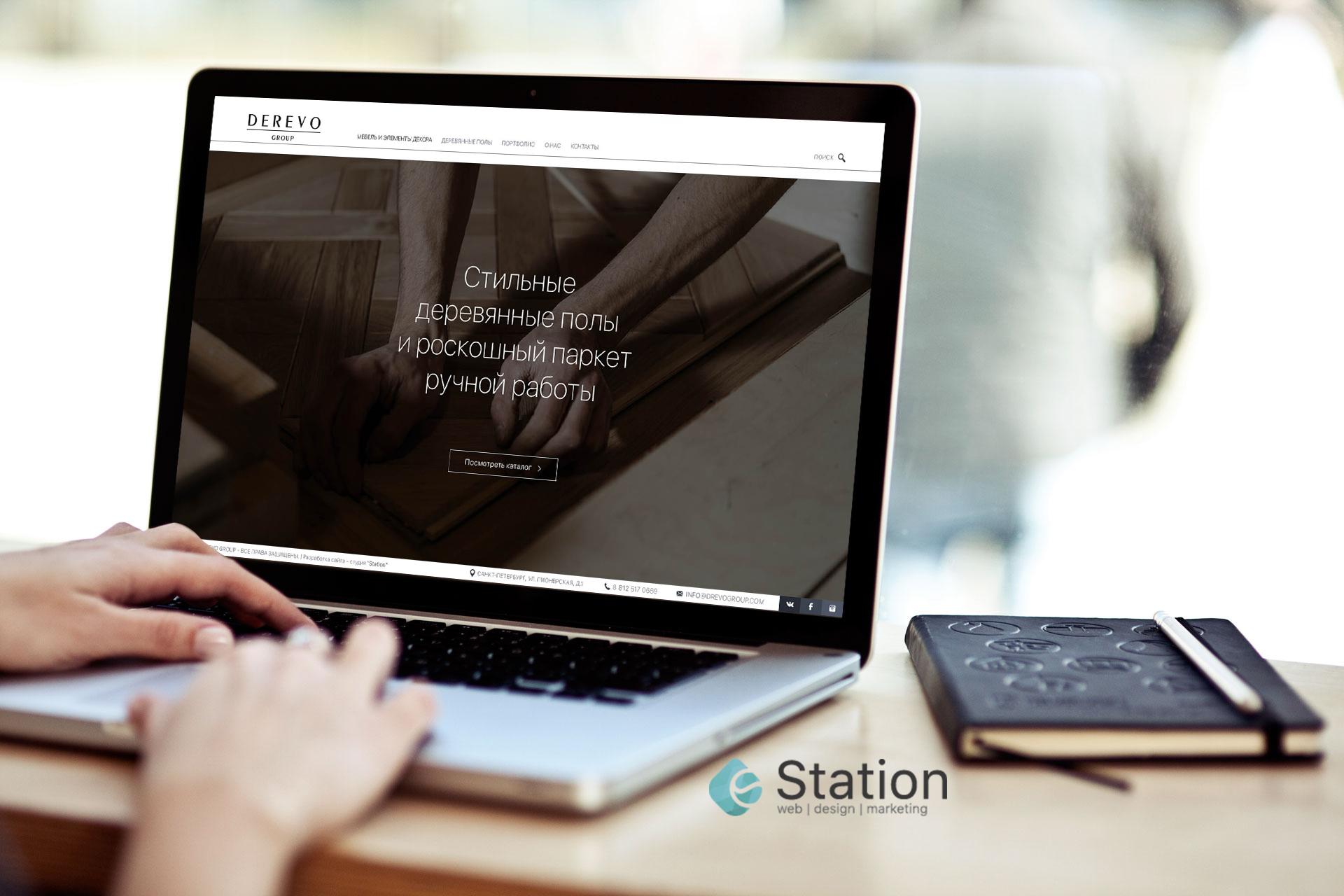 Разработка сайта для мебельной компании и компании по производству полов.